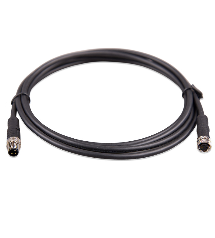 M8 circular connector Male/Female 3 pole cable 2m